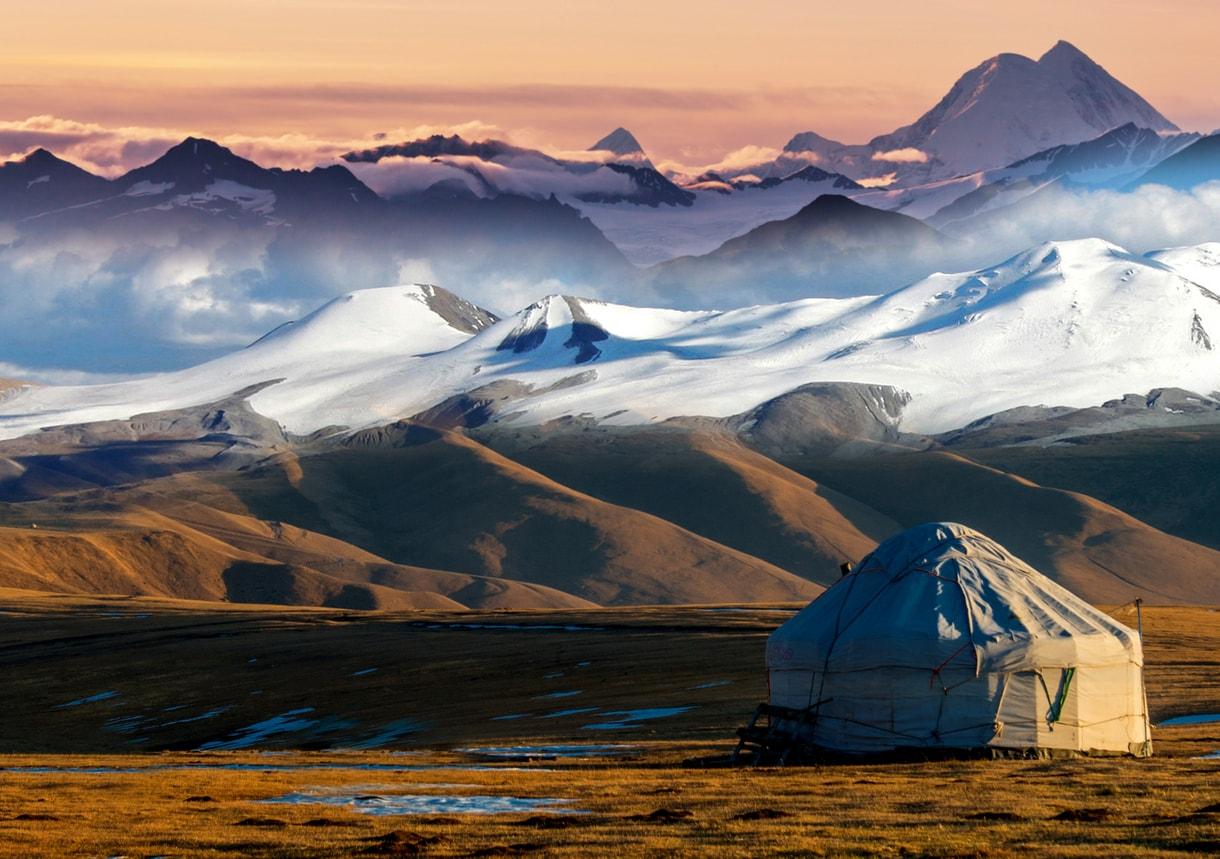 Almatı göçebe çadırı