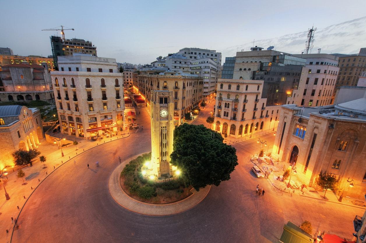 Beyrut şehri gece hayatı