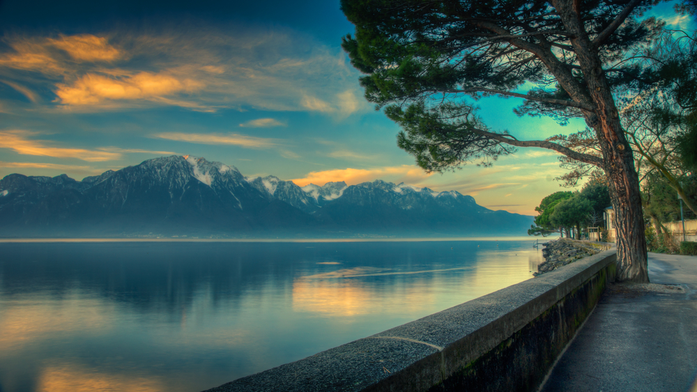 Leman gölü Cenevre