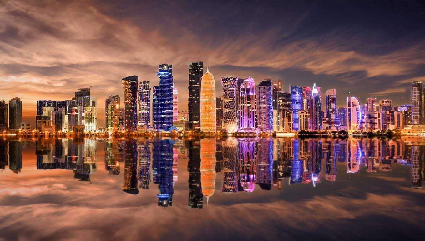 Doha şehri gece hayatı